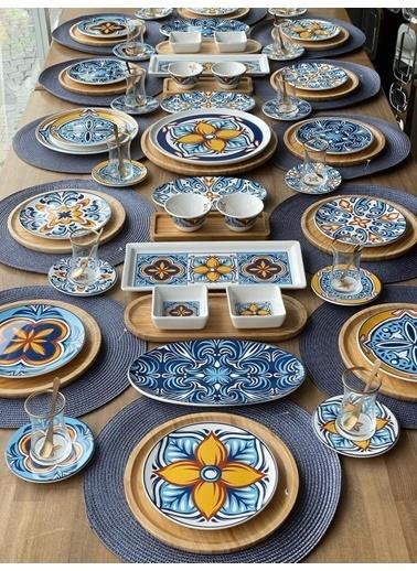 ROSSEV Kahvaltı Takımı Toscana 92 Parça 12 Kişilik Renkli
